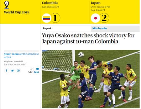 Đội bóng châu Á đầu tiên trong lịch sử hạ được một đội Nam Mỹ tại World Cup, truyền thông sửng sốt