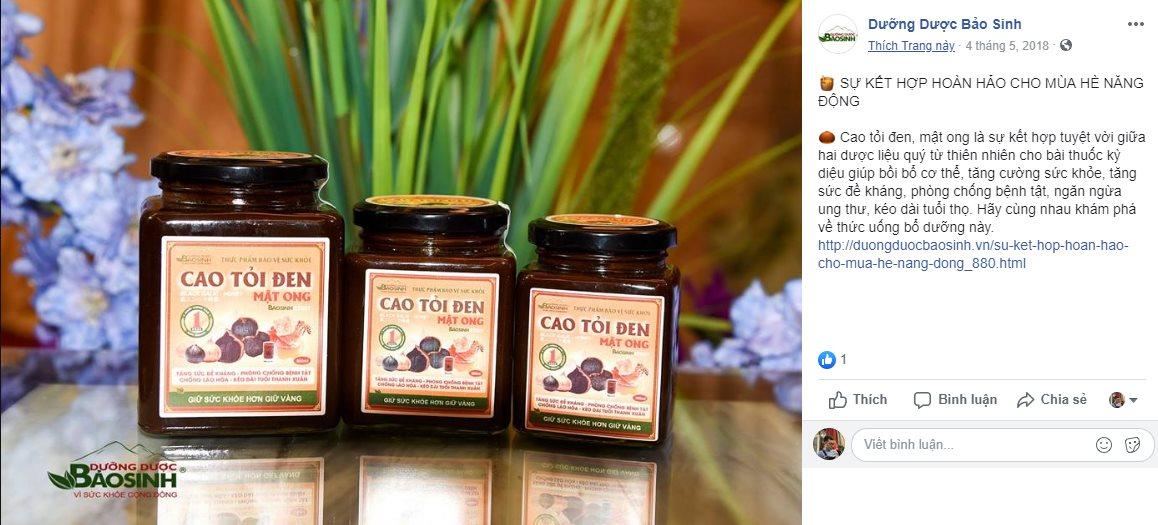 Cẩn trọng thông tin quảng cáo Cao tỏi đen mật ong