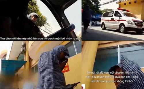 Truy tìm nhóm côn đồ chặn xe cứu thương xin tiền 'bảo kê' ở Bệnh viện 103