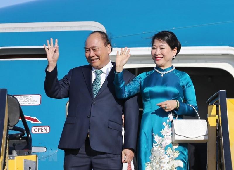 Hình ảnh Thủ tướng Nguyễn Xuân Phúc và Phu nhân đến Cộng hòa Áo