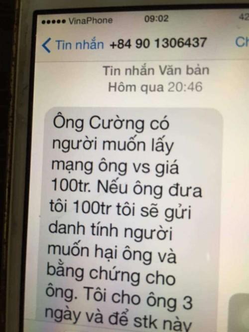 Chánh văn phòng Đoàn ĐBQH Quảng Trị bị kẻ lạ nhắn tin đe dọa, tống tiền