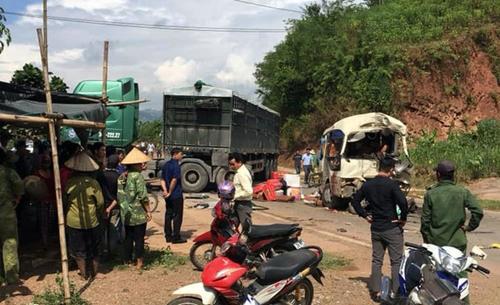 Thông tin về tình hình sức khỏe của các nạn nhân trong vụ tai nạn giữa xe khách 29 chỗ và xe đầu kéo tại Sơn La