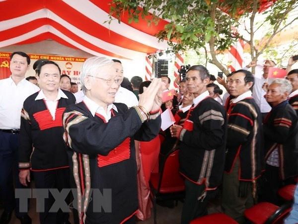 Tổng Bí thư, Chủ tịch nước dự Ngày hội Đại đoàn kết tại Đắk Lắk