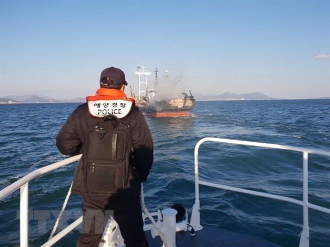 Cháy tàu cá Hàn Quốc: Thông tin mới nhất về hai nạn nhân người Việt