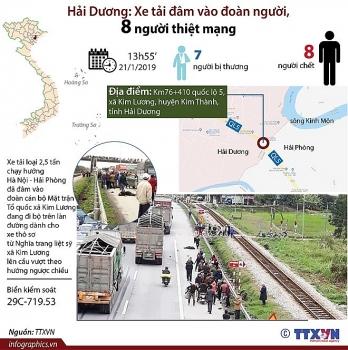 infographics vu xe tai dam chet 8 nguoi o hai duong dien ra the nao