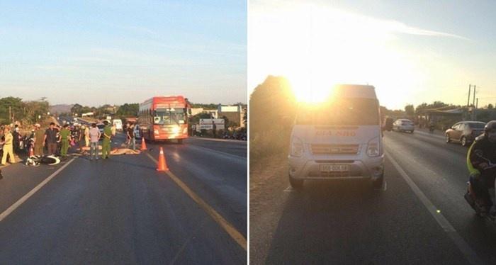 Bình Thuận: Xe máy va chạm ô tô, 2 người thiệt mạng