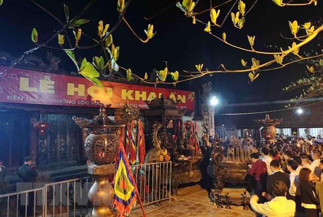 Hàng nghìn người về dự khai ấn đền Trần - Nam Định năm 2019
