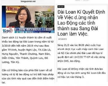 bac bo thong tin dai loan dung tiep nhan lao dong viet nam tu thang ba
