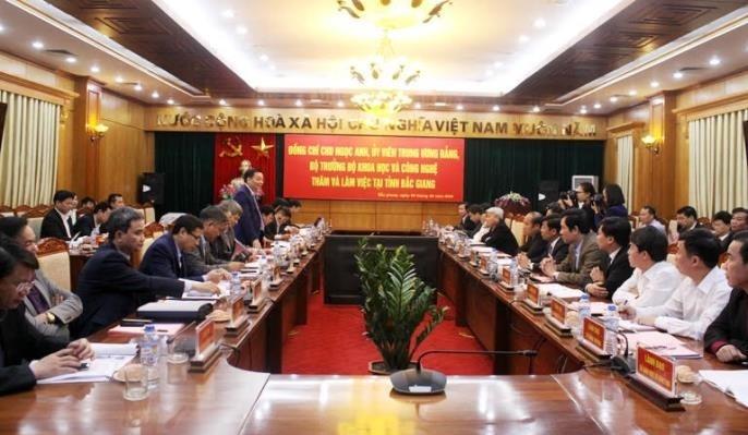 Bộ Khoa học và Công nghệ hỗ trợ Bắc Giang thực hiện 21 đề tài, dự án