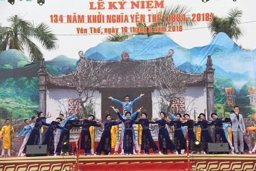 Bắc Giang: Khai mạc lễ hội kỷ niệm 134 năm khởi nghĩa Yên Thế