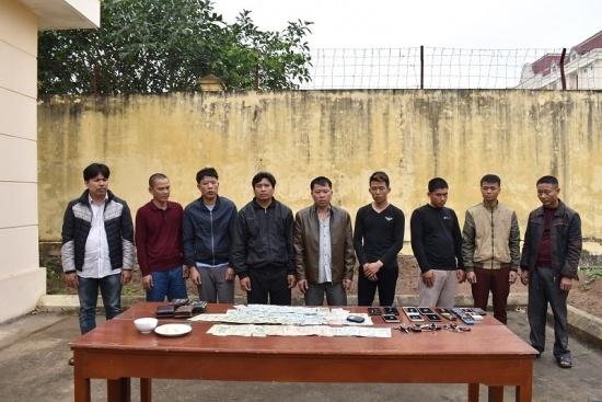 Phá sới bạc xóc đĩa, bắt giữ 10 đối tượng tại Ninh Bình