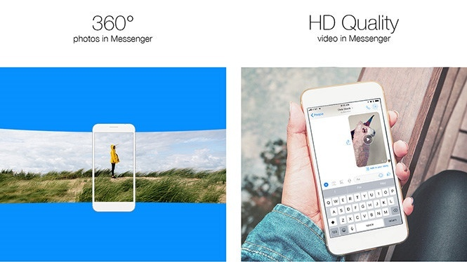 facebook messenger ho tro hinh anh 360 do va video hd