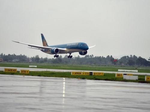 may bay vietnam airlines dap nham duong bang o cam ranh