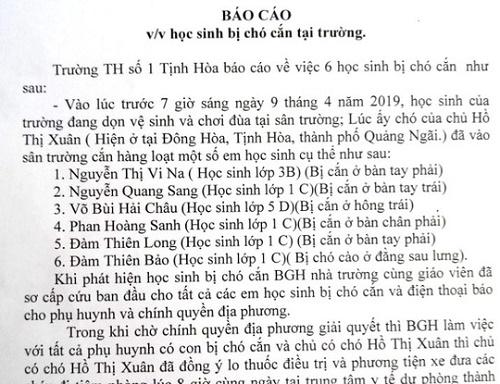 cho tha rong lao vao truong can 6 hoc sinh tieu hoc bi thuong