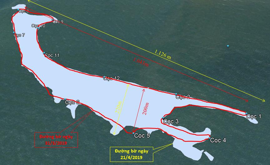 Đảo cát nổi ở biển Hội An tiếp tục được bồi mạnh