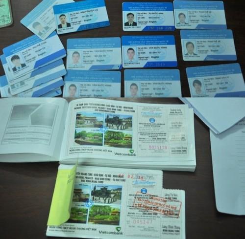 Đường dây làm giả vé tham quan bị triệt phá ở Đà Nẵng