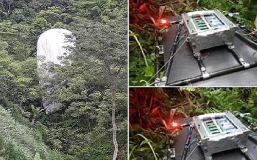 Vật thể 'lạ' chứa máy quay từ trên trời rơi xuống rừng Hà Giang: Xác định là thiết bị nghiên cứu khí tượng