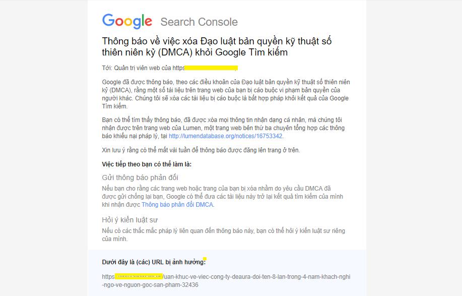 bi an loat bai viet boc phot deaura tiep tuc bi xoa khoi google doanh nghiep tung chieu ban de che giau sai pham