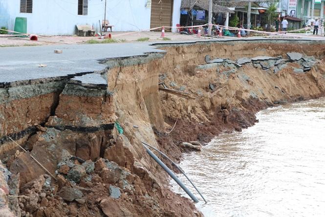 An Giang kiến nghị Chính phủ chi 500 tỉ chặn sạt lở quốc lộ 9