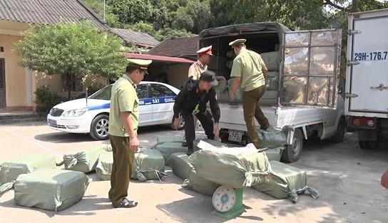 Thu giữ hơn 2,3 tấn nầm lợn không rõ nguồn gốc ở Lạng Sơn