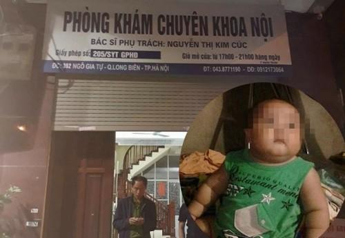 Vụ bé 2 tuổi tử vong sau truyền dịch ở phòng khám tư: Đình chỉ hoạt động phòng khám