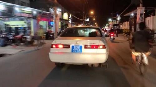 Xác minh thông tin vụ xe biển xanh 80B hú còi inh ỏi trên đường phố TPHCM dùng biển số giả