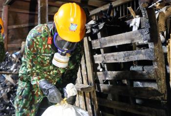 Hoàn thành xử lý 2.600 tấn phế thải nguy hại tại Công ty Rạng Đông