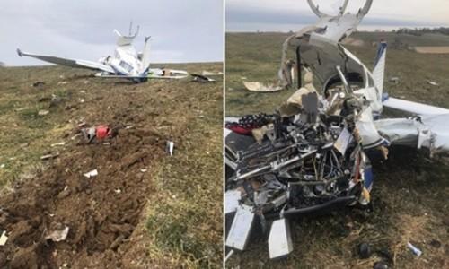 Mỹ: Rơi máy bay cỡ nhỏ do phi công lên cơn đau tim, 4 người thiệt mạng