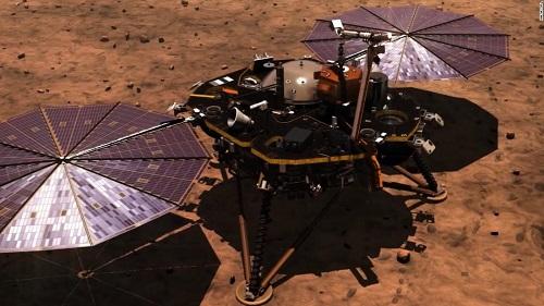 Tàu thăm dò InSight của NASA hạ cánh thành công xuống bề mặt sao Hỏa
