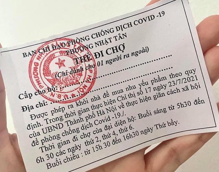 Bí thư Thành ủy Hà Nội yêu cầu phát phiếu đi chợ toàn thành phố