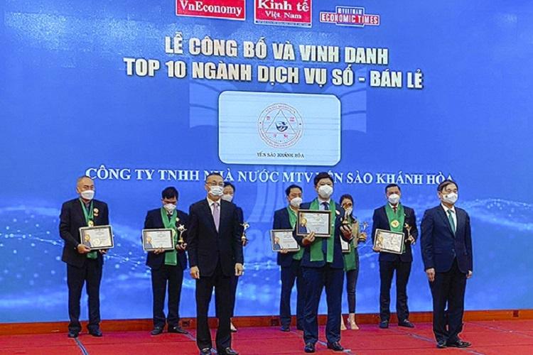 Yến sào Khánh Hòa đạt Top 10 ngành Dịch vụ số - Bán lẻ Thương hiệu mạnh Việt Nam 2020-2021