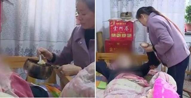 Một phụ nữ Trung Quốc cưới chồng mới lo cho chồng cũ sống thực vật