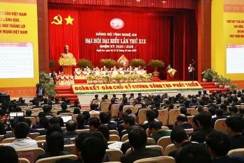 danh sach ban chap hanh dang bo tinh nghe an khoa xix nhiem ky 2020 2025
