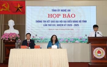 tinh uy nghe an hop bao thong qua ket qua dai hoi dai bieu dang bo tinh nghe an lan thu xix