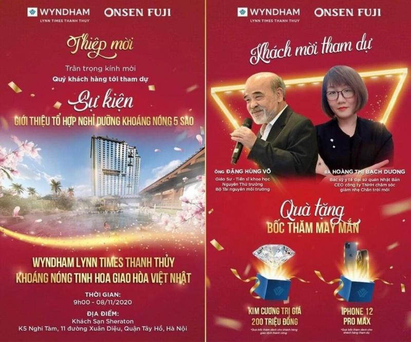 Công ty Onsen Fuji tổ chức sự kiện giới thiệu về một dự án chưa có ĐTM