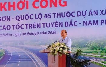 thu tuong nguyen xuan phuc du le khoi cong duong cao toc bac nam