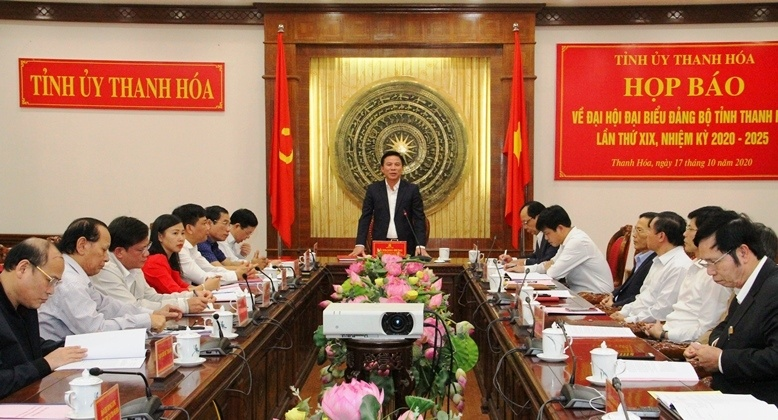 thanh hoa thong tin chinh thuc ve ke hoach to chuc dai hoi dang bo tinh lan thu xix