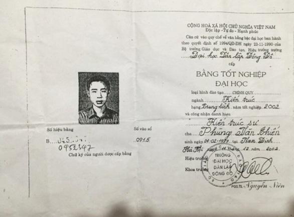 Viện trưởng Viện Quy hoạch xây dựng Thái Bình chưa tốt nghiệp đại học