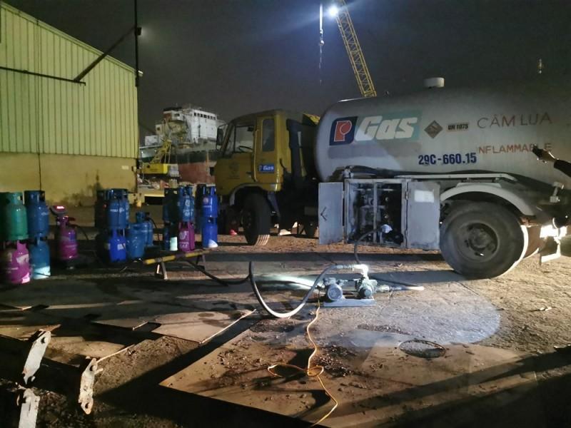 Hải Phòng: Phát hiện vụ sang chiết gas trái phép quy mô lớn