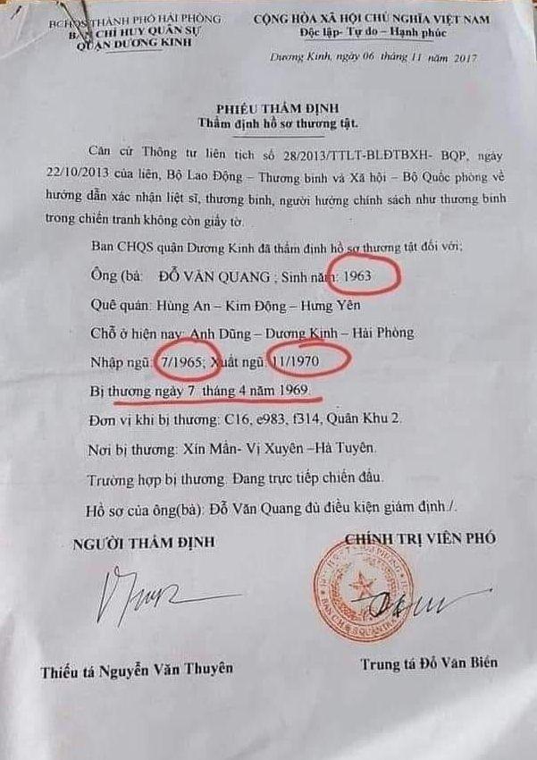 Quân nhân 2 tuổi nhập ngũ, 7 tuổi xuất ngũ ở Hải Phòng?