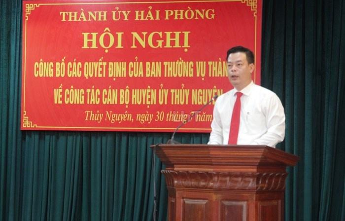 Hải Phòng: Giám đốc Sở NN&PTNT được điều động giữ chức Bí thư huyện ủy Thủy Nguyên