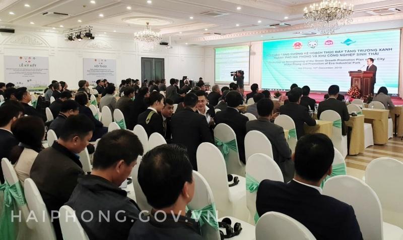 Hải Phòng: Hội thảo tăng cường Kế hoạch thúc đẩy tăng trưởng xanh thành phố Hải Phòng và KCN sinh thái