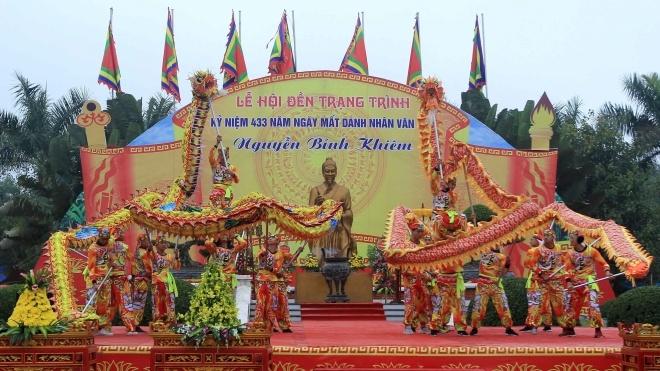 Hải Phòng: Lễ hội Đền thờ Trạng Trình Nguyễn Bỉnh Khiêm đón bằng di sản văn hóa phi vật thể quốc gia