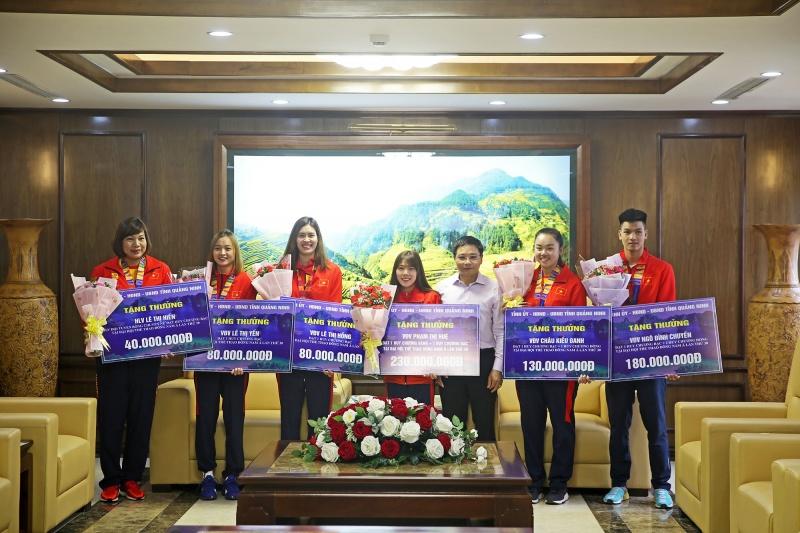 Quảng Ninh: Chi hơn 1,6 tỷ đồng khen thưởng các VĐV, HLV tham dự SEA Games 30