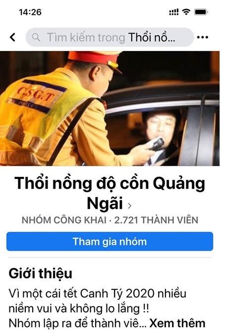 """Quảng Ngãi: Điều tra nhóm Facebook """"chỉ điểm"""" Cảnh sát giao thông"""