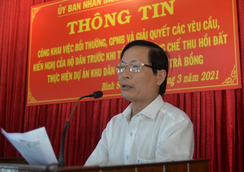Quảng Ngãi: Dự án khu dân cư kè bắc sông Trà Bồng sẽ tiến hành cưỡng chế theo quy định