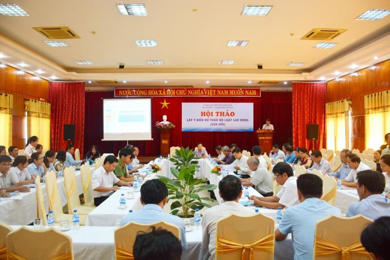 Quảng Ngãi: Góp ý kiến dự thảo Bộ luật Lao động