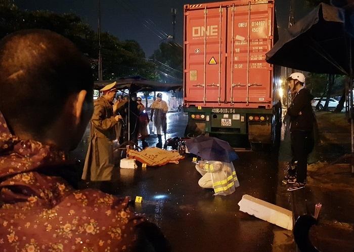 Đà Nẵng: Người đàn ông tử vong vì đâm vào đuôi xe container