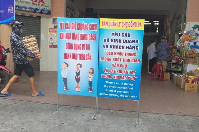 Đà Nẵng: Đóng cửa chợ Đống Đa vì liên quan tới ca mắc Covid-19