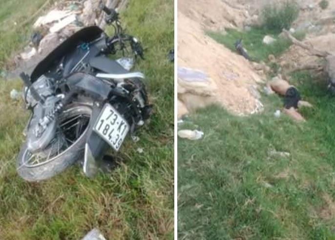 Quảng Bình: Phát hiện thi thể nam thanh niên chết bất thường dưới lề đường